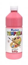 Farba tempera w butelce Karbon różowa 550ml
