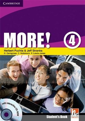 More! 4 SB w/ CD-ROM - książka