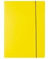 Teczka A4 kartonowa z gumką żółta 300g D.RECT