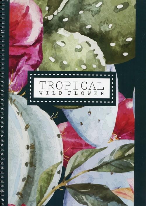 Kołonotatnik A4 Tropical w kratkę 100 kartek Wild flower