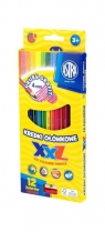 Kredki ołówkowe grafitowe - 12 kolorów