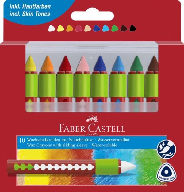 Kredki woskowe akwarelowe FaberCastell 10kolor (Uszkodzone opakowanie)
