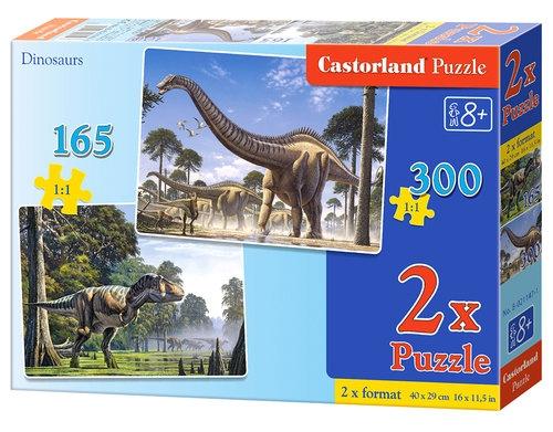 Puzzle Dinozaury 165 i 300 2w1 (021147)