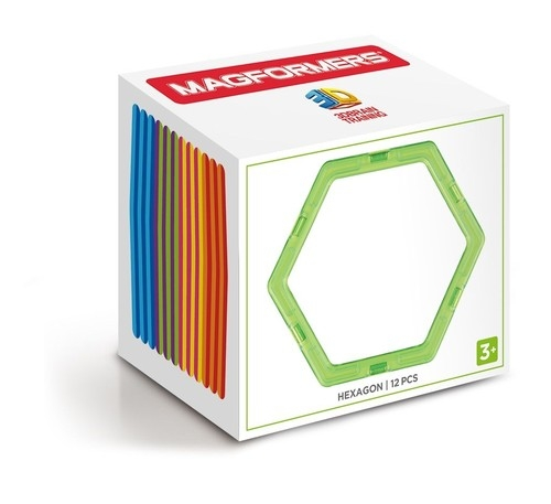 Klocki magnetyczne 3D Magformers Sześciokąty 12 elementów (713015)