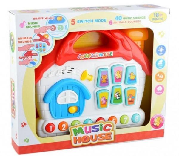 Zabawka muzyczna Domek