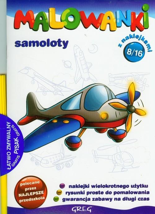 Malowanki 8 Samoloty + pisak