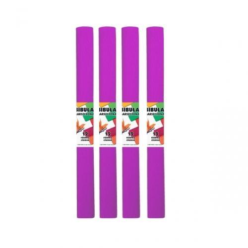 Bibuła marszczona 12 różowa ciemna 10szt