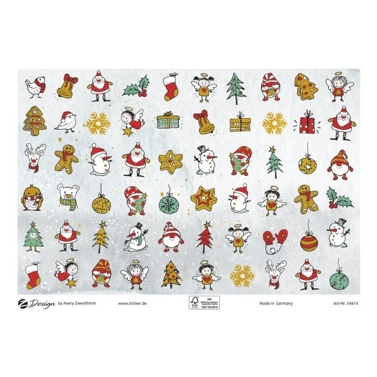 Naklejki bożonarodzeniowe - Mini motywy świąteczne (54614)