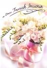 Karnet B6 Kwiaty imieniny  FF1281