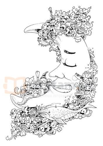 Inwazja bazgrołów. Blok rysunkowy Rosanes Kerby