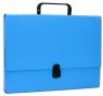 Teczka-pudełko Office Products A4 5cm z rączką z zamkiem niebieska