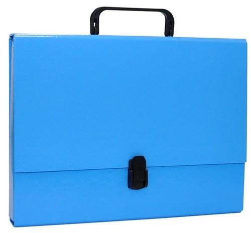 Teczka-pudełko Office Products A4 5cm z rączką z zamkiem niebieska (21187811-01)