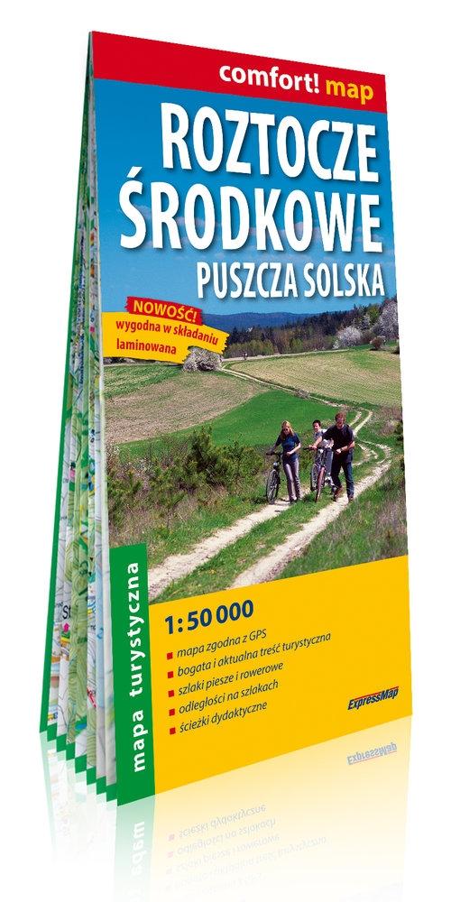 Roztocze Środkowe, Puszcza Solska laminowana mapa turystyczna 1:50 000