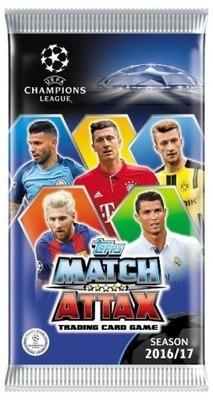 Champions League UEFA Match Attax 2016/17 saszetka z kartami .