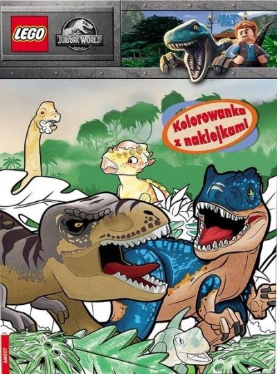 Lego Jurassic World. Kolorowanka z naklejkami praca zbiorowa