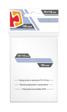 Koszulki na karty Rebel (70x110 mm) Kraken, 100 sztuk