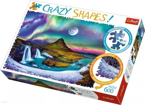 Puzzle Crazy Shapes! 600 Zorza nad Islandią (Uszkodzona okładka)