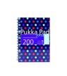 Kołozeszyt 200 stron Pukka Pad A5 niebieski