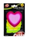 Karteczki samoprzylepne liść serce kwiat neon PUKK