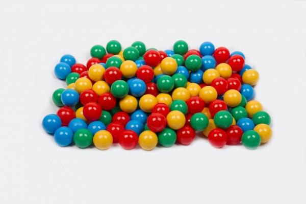 Piłki do basenu niebieska, żółta, czerwona, zielona (78150)