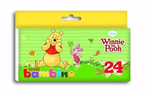 Kredki Bambino świecowe 24 kolory Kubuś Puchatek