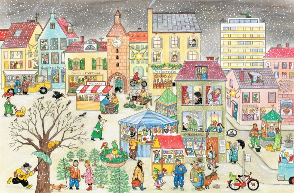 Zima na ulicy Czereśniowej Berner Rotraut Susanne