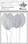 Dekoracje materiałowe srebrne liście (396465)