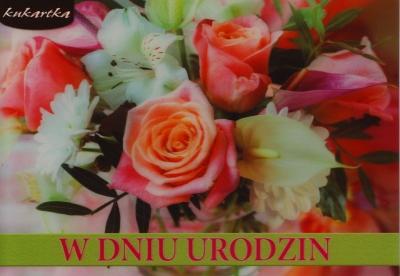 Karnet Urodziny 3DV-082 .