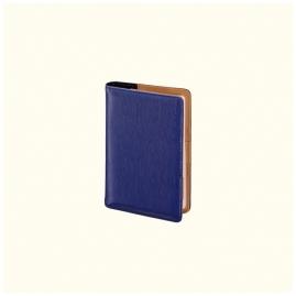 Kalendarz książkowy dzienny 10x15,5cm niebieski 2018