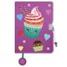 Pamiętnik z kłódką pluszak z cekinową aplikacją A5, 96 kartek - Muffin