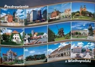 Pocztówki Poznań C6 kolor mix praca zbiorowa