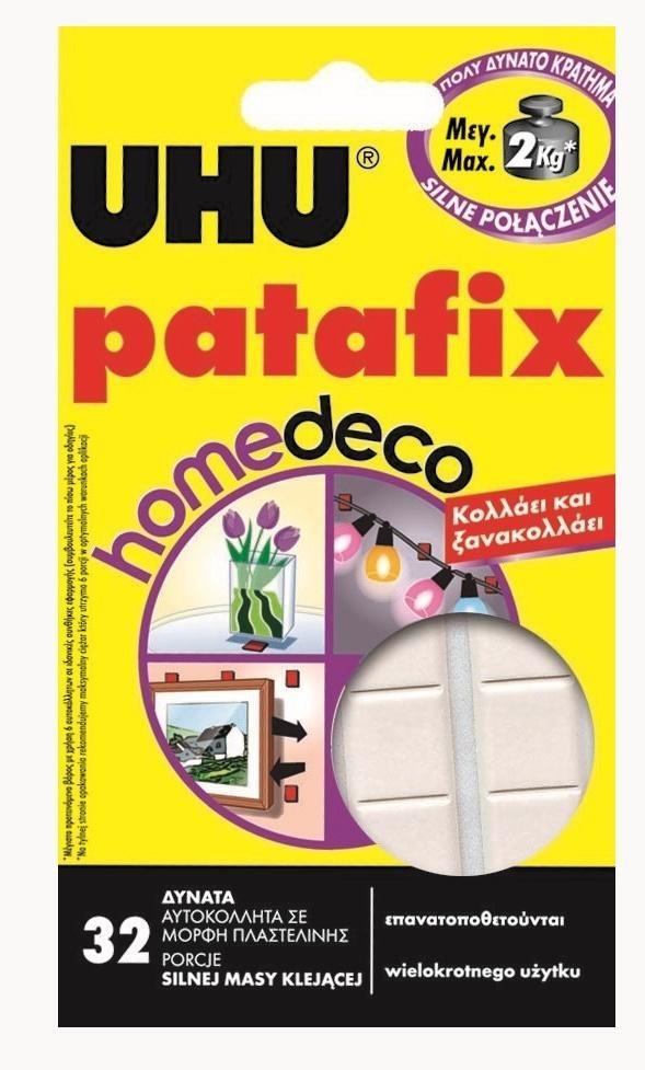 Klej UHU Patafix - 32 porcje biała (40015)