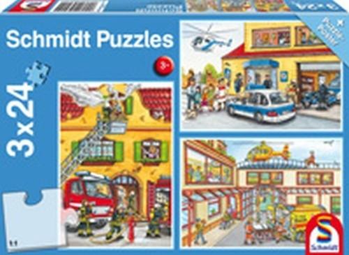 Puzzle 3x24 Służby ratownicze