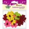Naklejki filcowe Kwiaty - 12 szt. (373232)