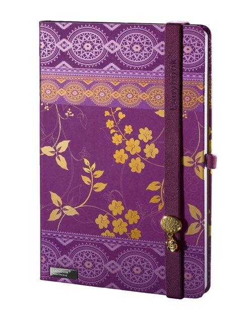 Notes A5 Lanybook Oriental Dream w kratkę fiolet