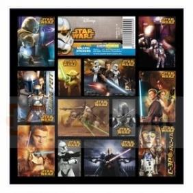 Nalepki 16x16 Star Wars 2szt.