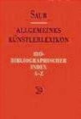 Allgemeines Kunst. Bio-Biblio v 5 Index A-Z