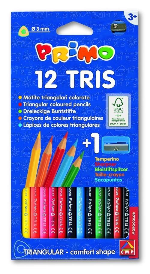 Kredki trójkątne Primo 12 kolorów
