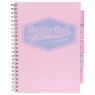 Kołozeszyt A4/100k Pukka Pad Project Book Pastel - różowy (8630S(PK)-PST)