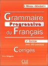 Grammaire Progressive du Francais Niveau debutant Rozwiązania do ćwiczeń