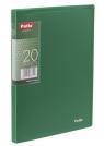 Teczka Clear Book A5 z 20 koszulkami, zielona
