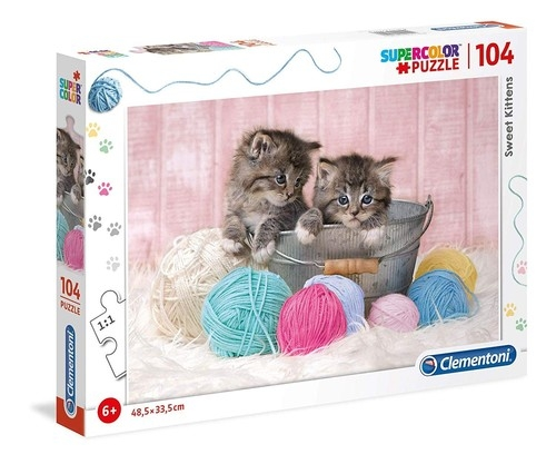 Puzzle 104 Supercolor: Sweet Kittens (27115)