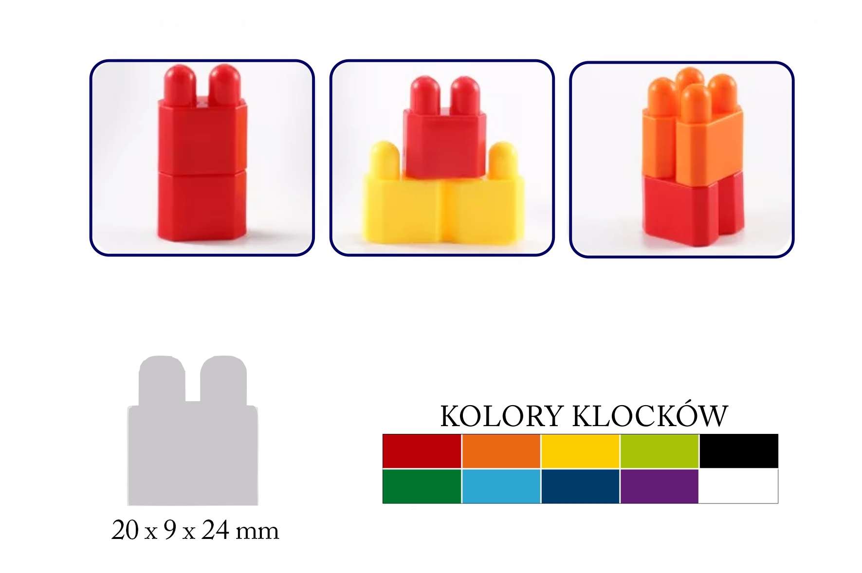 Klocki cegiełki - 160 elementów (102153)
