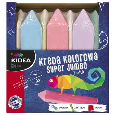 Kreda kolorowa Super Jumbo 7 kolorów
