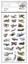 Naklejki wypukłe miękkie maszyny latające 28szt