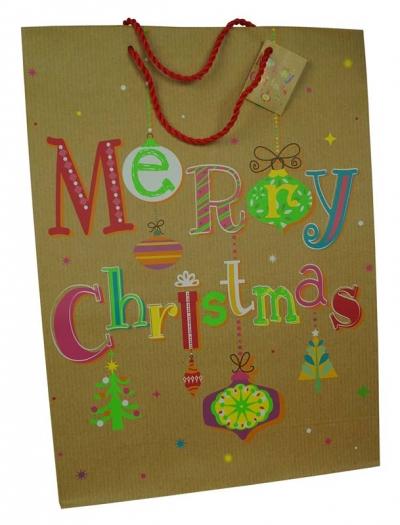 Torebka prezentowa 32x44 CHRISTMAS JOY