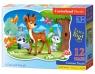 Puzzle Maxi Konturowe:A Deer and Friend 12 elementów