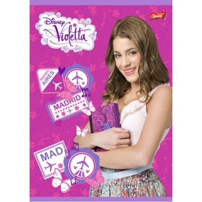 Zeszyt A5 laminowany w kratkę 32 kartki Violetta