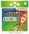 Kredki woskowe 24 kolory Safari