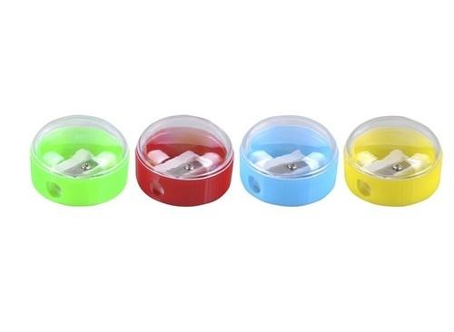 Temperówka DONAU plastikowa pojedyncza mała okrągła 40 sztuk mix kolorów